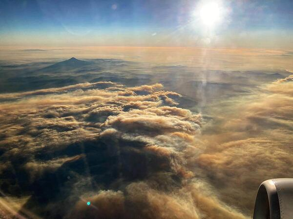 wildfires over Washington State
