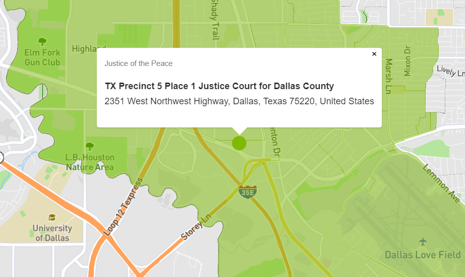 Determine Justice Court Venues in Texas